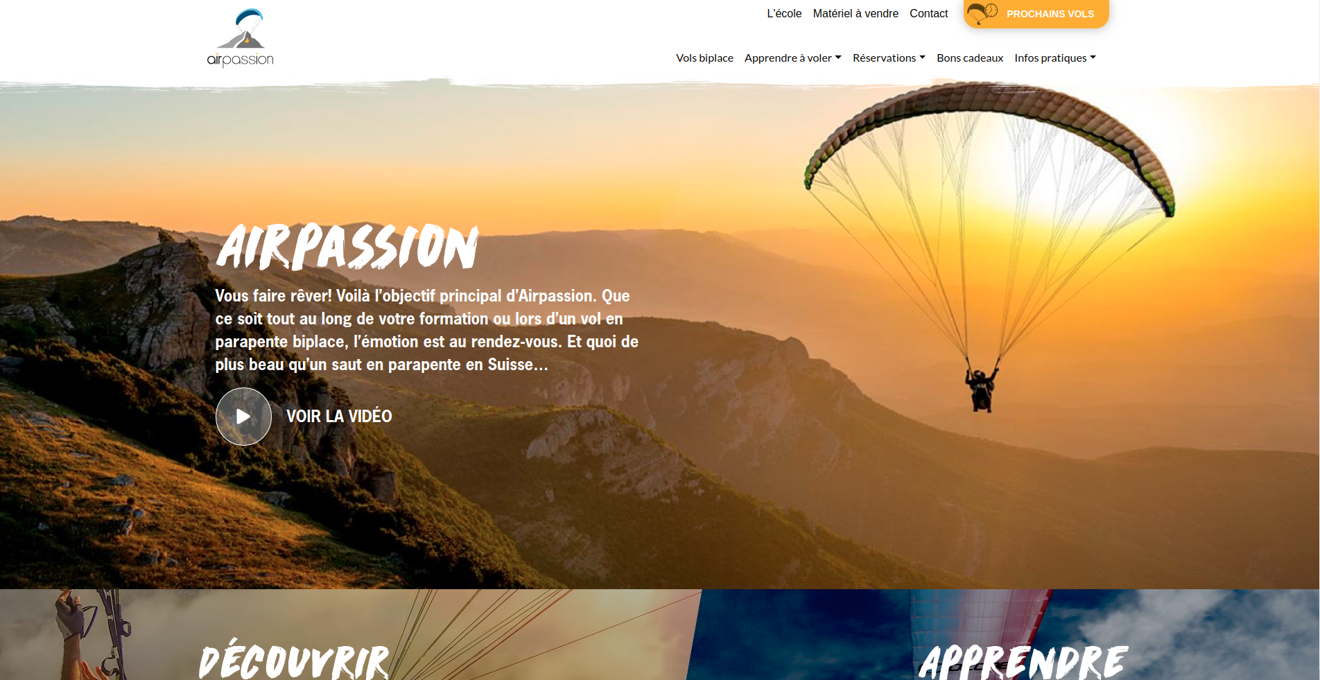 Airpassion front page